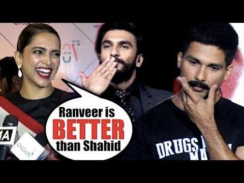 Deepika Padukone Reacts On Ranveer Singh Is Better Than Shahid Kapoor In Padmaavat Mp3