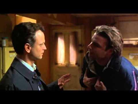 Ransom 1998. Gary Sinise throat chops Liev Schriber.