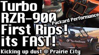 turbo polaris rzr 900 first rips its fast kicking up dust at prairie city