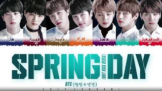 BTS  - 'SPRING DAY' (BRIT ROCK REMIX) Lyrics [Color Coded_Han_Rom_Eng]