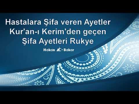 Hastalara Şifa Veren Ayetler Kur'an-ı Kerim'den Geçen Şifa Ayetleri  Rukye