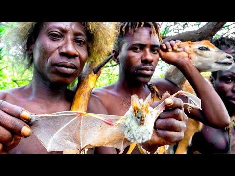 RAIDING A BABOON CAMP with Hadza Hunter-Gatherers in Tanzania