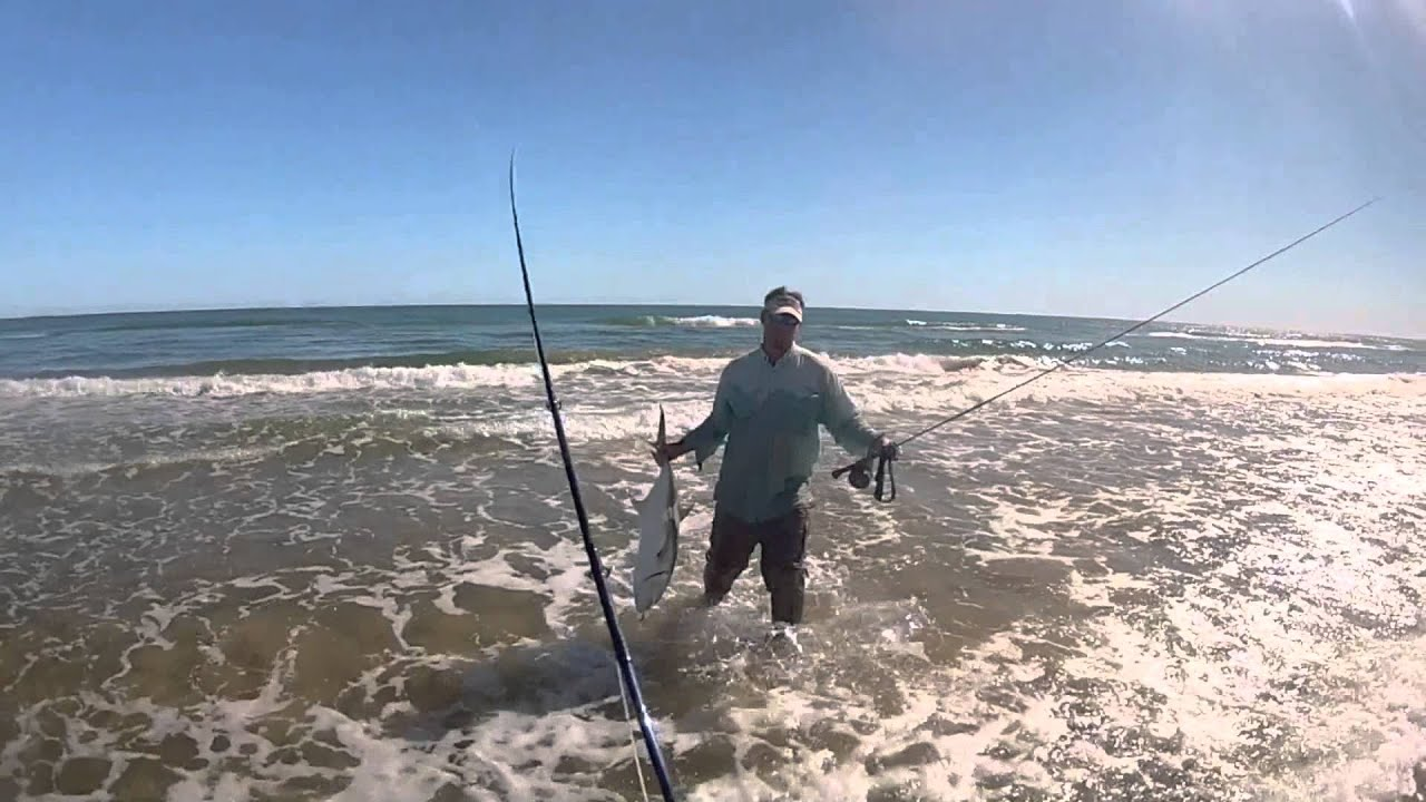 Fly fishing surf pins padre island national seashore trip for Padre island national seashore fishing report