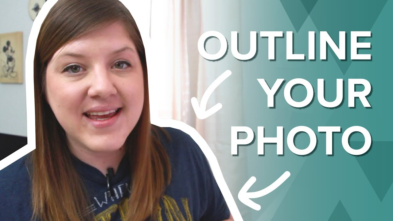 how to outline a picture for thumbnails - youtube