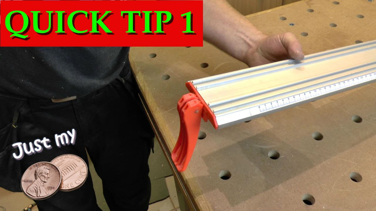 Quick Tip 1 - Table Saw Jointing Jig - YouTube