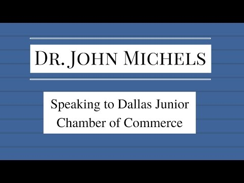 Dr. John  Michels speaks to the Dallas Junior Chamber of Commerce