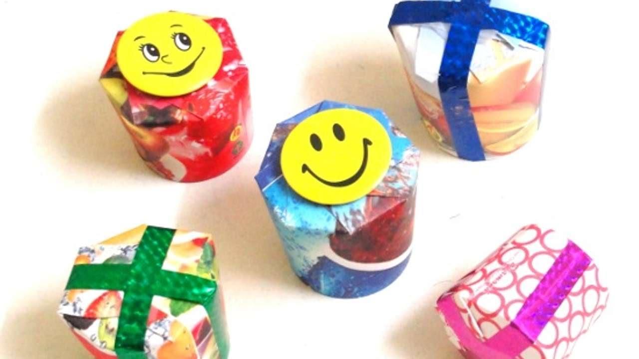 Trasforma bicchieri di carta in scatoline regalo fai da for Creazioni fai da te