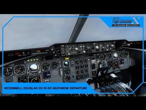 FSX Heathrow Departure British Airways McDonnell Douglas DC-10-30