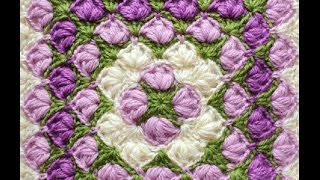 Квадратный мотив по кругу крючком  из Кауни (Crochet motives)