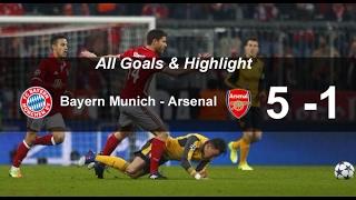 Highlight Pertandingan Bayern Munchen Vs Arsenal 5 - 1
