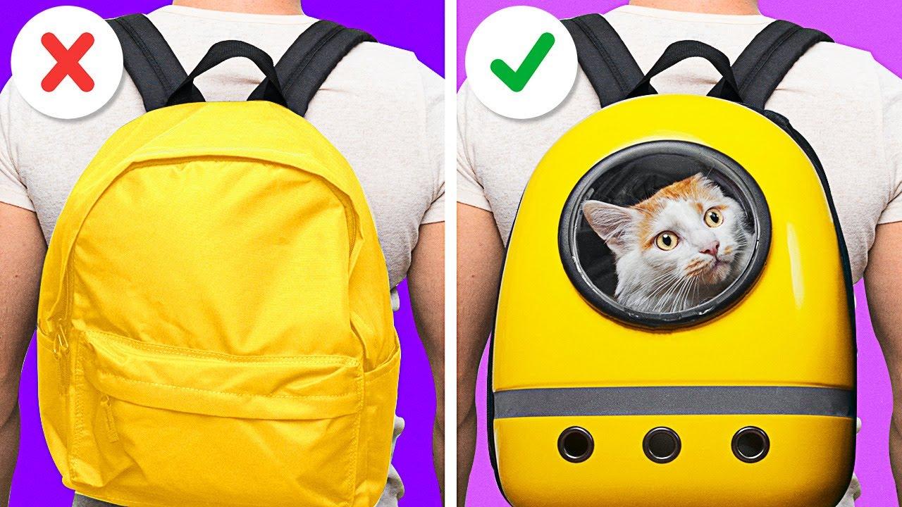 DIY CAT BACKPACK🐈🎒