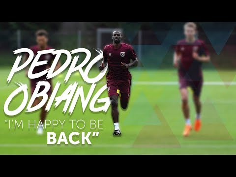 PEDRO OBIANG: I'M HAPPY TO BE GETTING BACK TO WORK