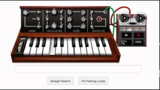 Happy 78th Birthday Robert Moog by (EZSTEEZ)!  On Google Doodle Mini Moog