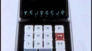 Shocking Ad for the World's First Battery Operated Portable Calculator (1971)