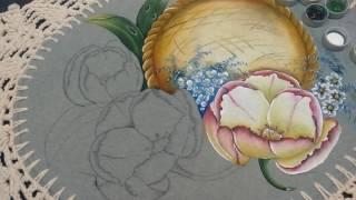 Roberto Ferreira- Pintura em Tecido emborrachado – Tulipas americanas