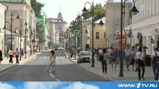 Репортаж на 1 канале. Новый фонари на Пятницкой улице в г. Москва.
