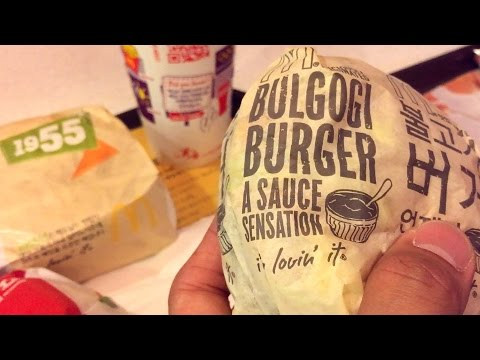 McDonald's burgers in South Korea