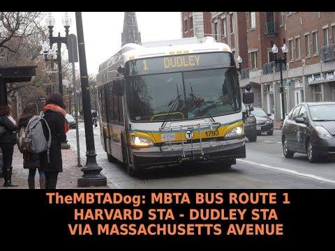 TheMBTADog: MBTA Bus Route 1 Ride: Harvard - Dudley via Massachusetts  Avenue, Central & Hynes