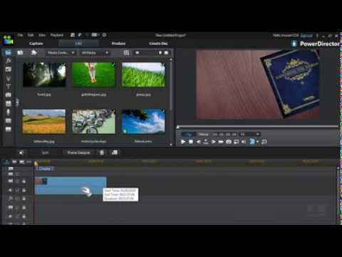 How to make beautiful slideshows with theme designer in for Powerdirector slideshow templates download