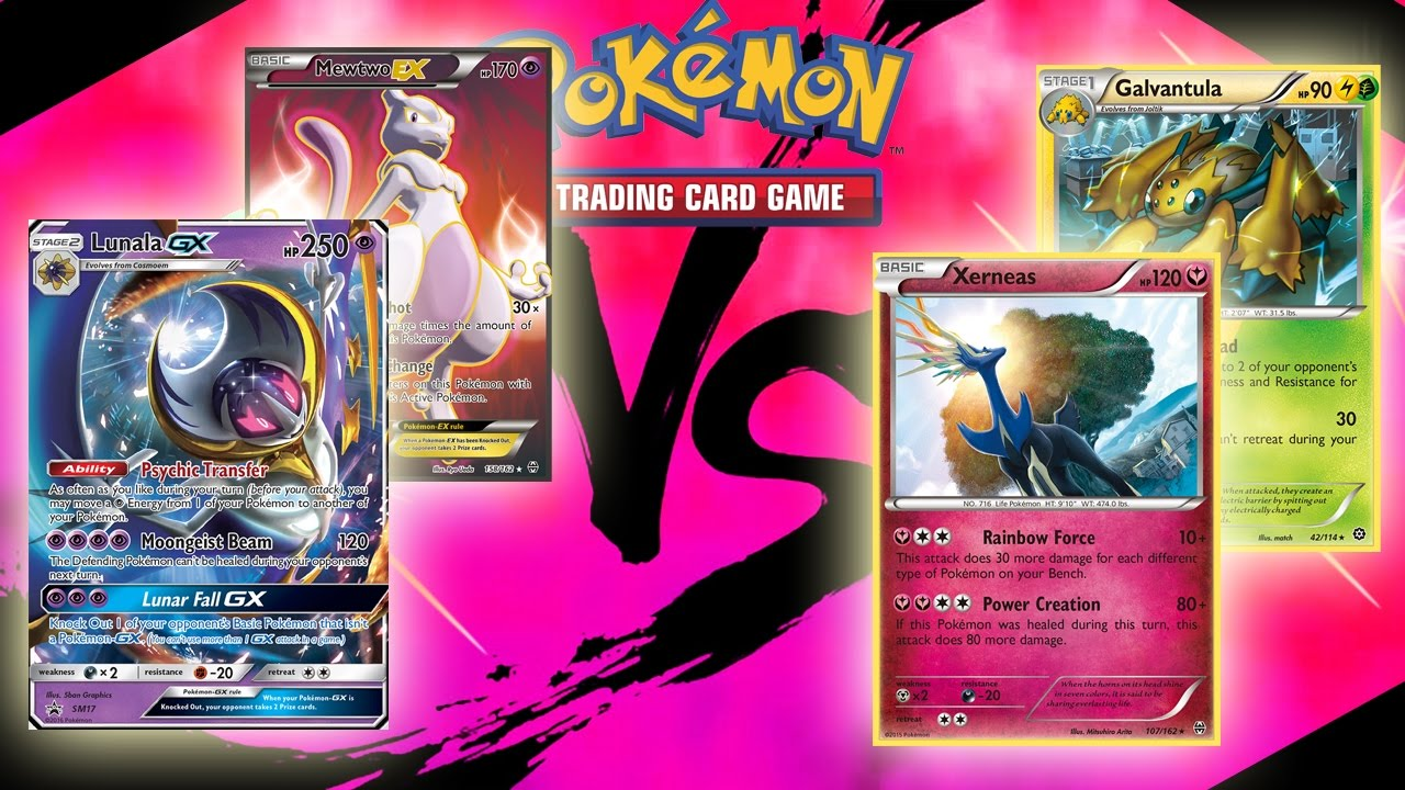 Lunala GX/Mewtwo EX VS. Xerneas Rainbow Road - Pokemon ...