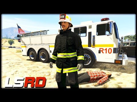 GTA 5 LSRD | Herzinfarkt auf dem Highway - Deutsch - Grand Theft Auto 5 Los Santos Rescue Division thumbnail