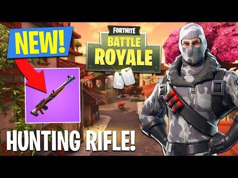 NEW HUNTING RIFLE GAMEPLAY!! (Fortnite Battle Royale)