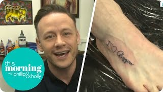 Kevin Clifton Gets Tattooed Live on Air!   This Morning