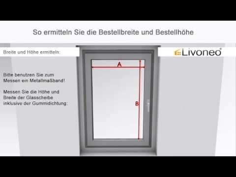 Fabulous Plissee messen: Fenster für ein VS2-Modell ausmessen - YouTube UT87
