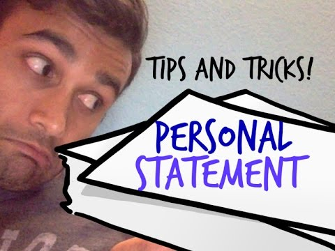 PERSONAL STATEMENT TIPS!! (MEDICAL SCHOOL)