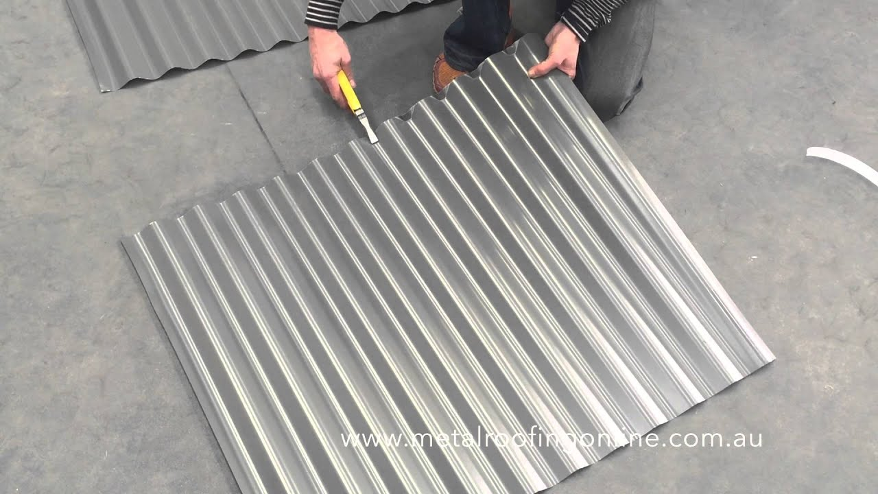 How To Turn Up Corrugated Iron Sheets Metal Roofing