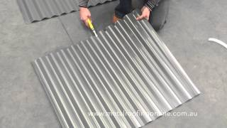 How To: Turn Up Corrugated Iron Sheets | Metal Roofing Online
