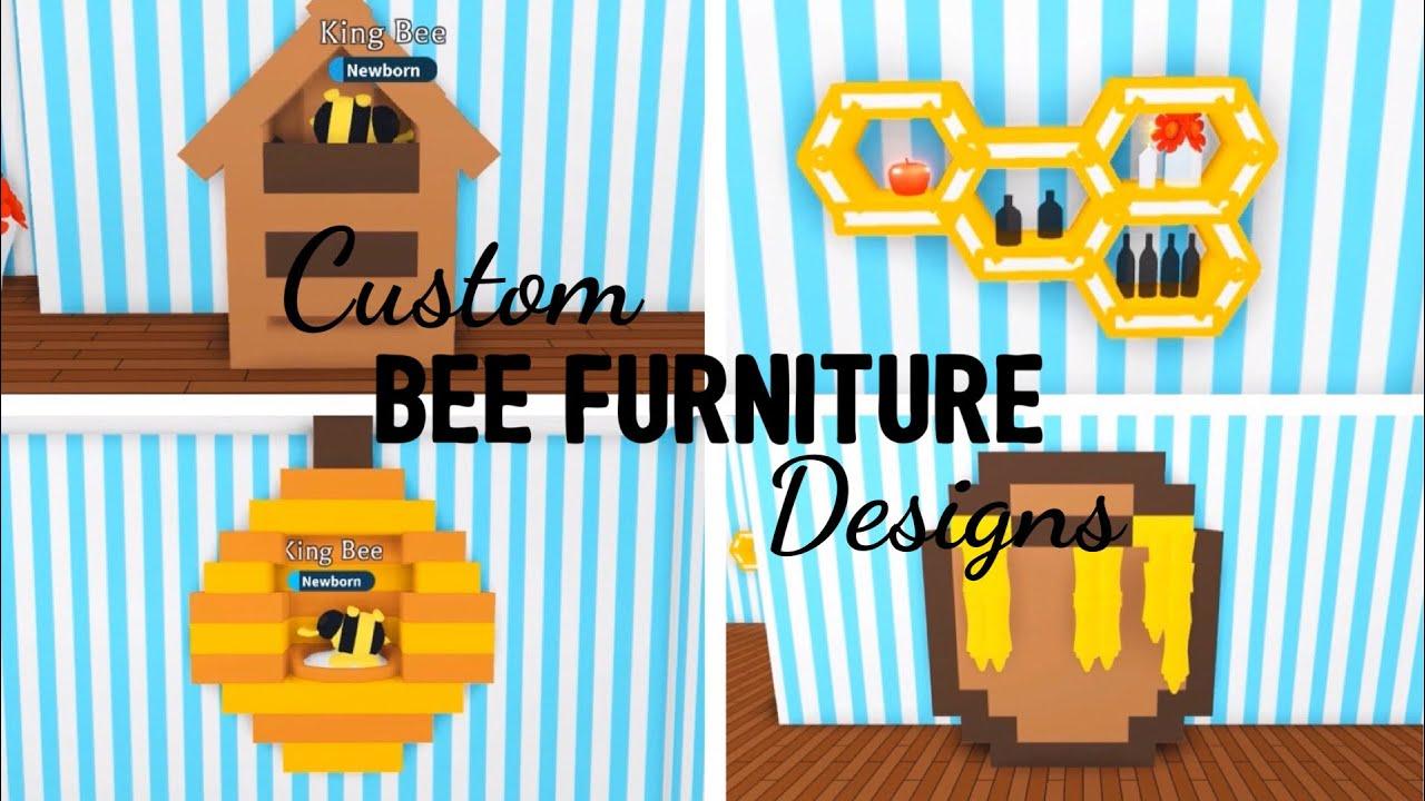 4 Custom Bee Furniture Design Ideas Building Hacks Adopt Me Roblox Beehive Honeycomb - adopt me furniture hack roblox 2019