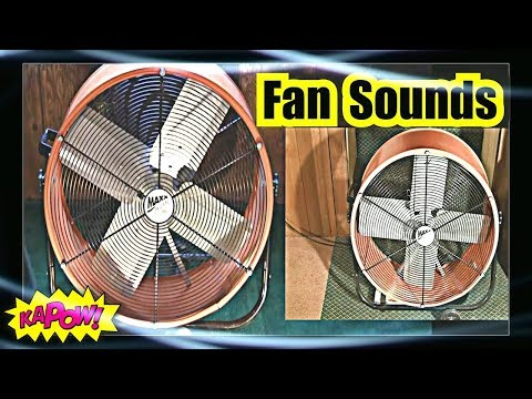 FAN SOUND = SLEEP LIKE A BABY to FAN NOISE = 2 Super Box Fans 10 hours of FAN WHITE NOISE
