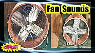 FAN SOUND = SLEEP LIKE A BABY = 2 Super SHOP FAN Box Fans 10 hours SLEEP FAN NOISE