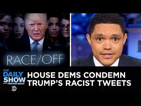 Chaos Ensues During House Vote on Condemning Trump's Racist Comment | The Daily Show