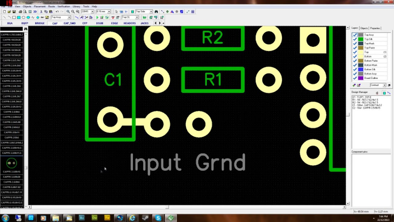 Design Your Own Guitar Pedal Pcb Layout Single Sided Part 2 Doityourself Diy Double Circuit Board Etching Do It Youtube