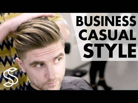 Professional men's hairstyling ★ Business casual ★ Short sides 4k hairstyle Slikhaar TV hairstyles
