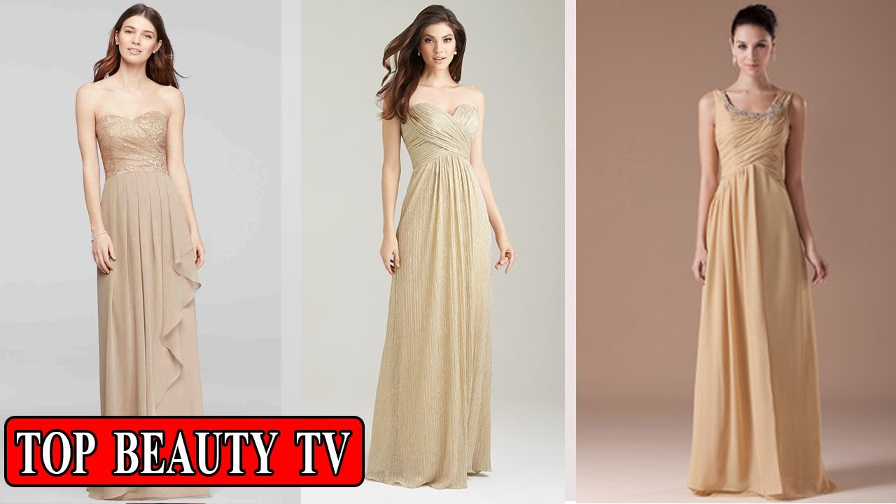 Top Gold bridesmaid dresses, gold long bridesmaid dresses for women ...