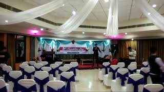 Hotel Yaiphaba, simple ceiling and backdrop, foundation day 2017
