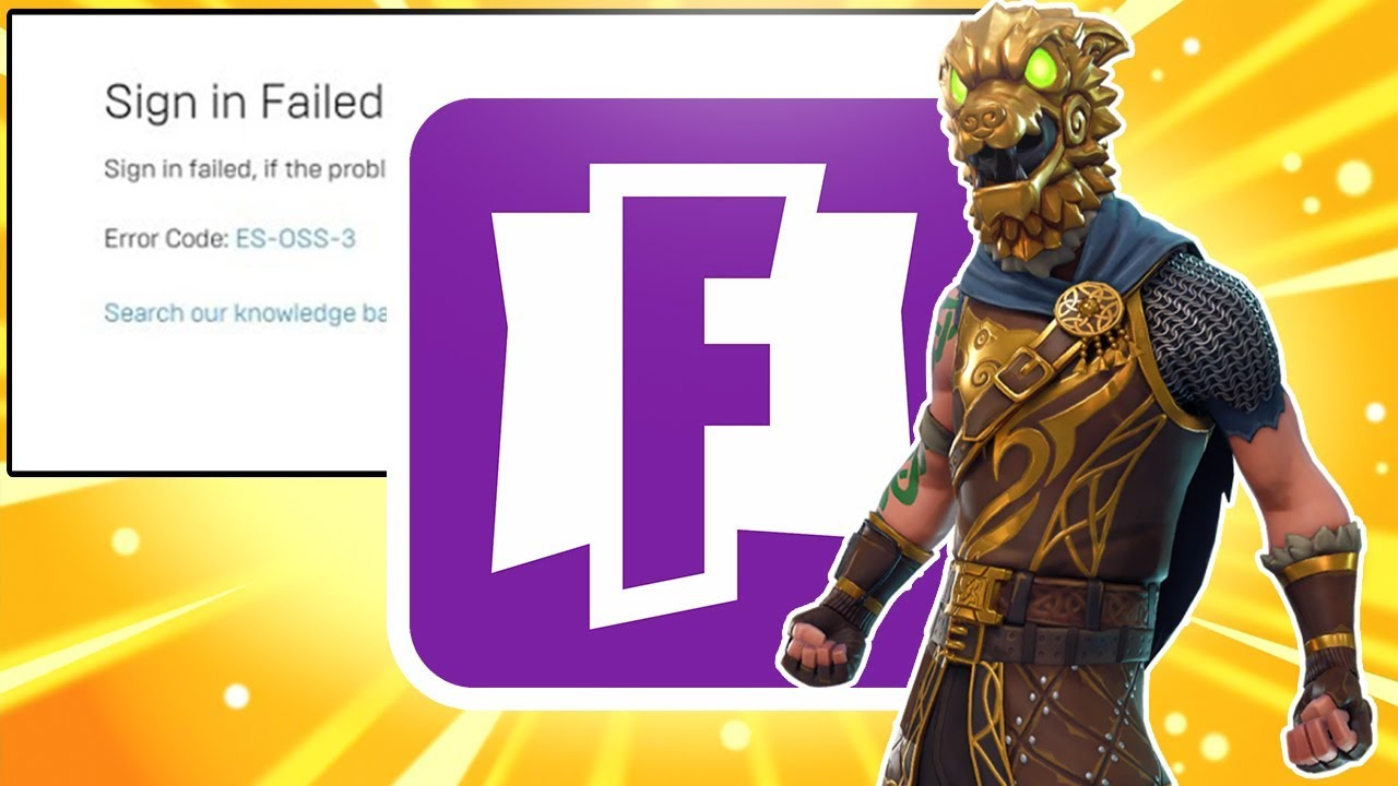 General troubleshooting for account and matchmaking issues with Fortnite.