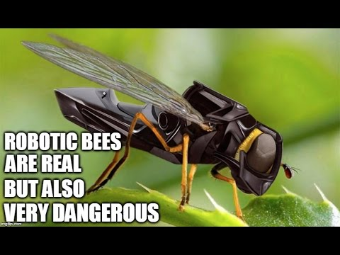 Robotic Bees Are Real But Also Very Dangerous