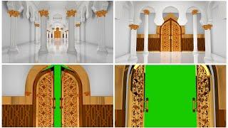 Door Open Mosque Green Screen Video Free Footage