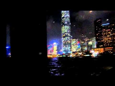 Aqua Luna Chinese Junk Boat Hong Kong Harbor