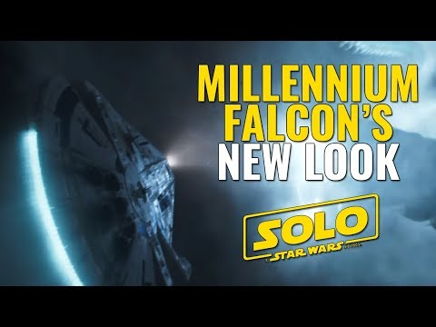 The Millennium Falcon's new look in Solo: A Star Wars Story