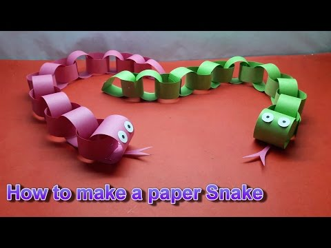 How to make a paper Snake || || Craft idea||DIY Projects for School