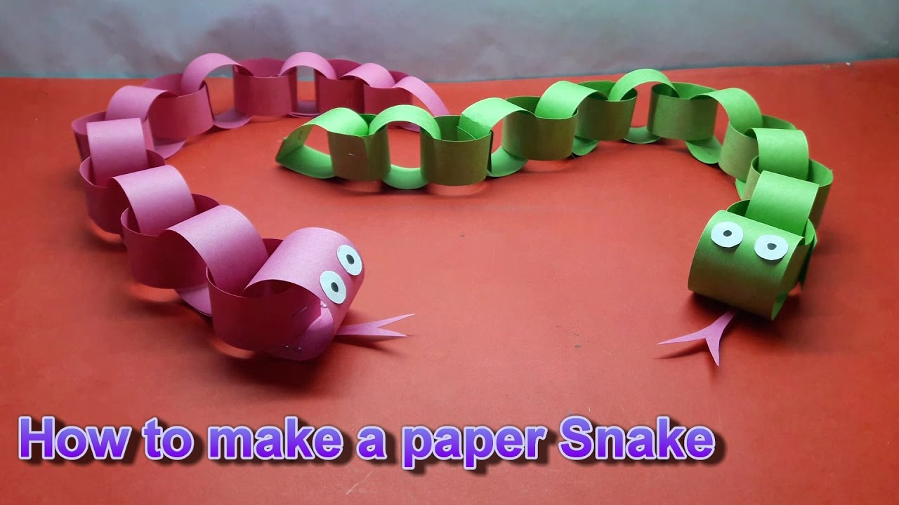 How to make a paper Snake || || Craft idea||DIY Projects for School ...