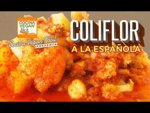 Coliflor a la espaola  Cocina Vegan Fcil  YouTube