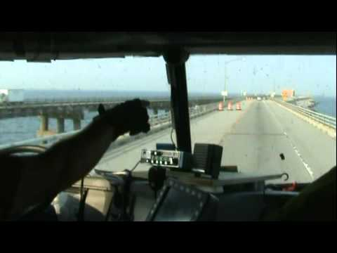 Big Rig trip over The Chesapeake Bay Bridge-Tunnel