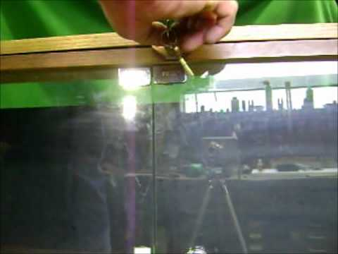 Simple Lock For Swinging Glass Cabinet Doors Youtube
