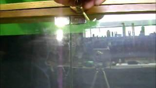 Simple Lock For Swinging Glass Cabinet Doors